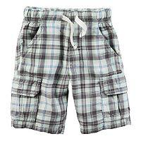 Baby Boy Carter's Midtier Plaid Cargo Shorts