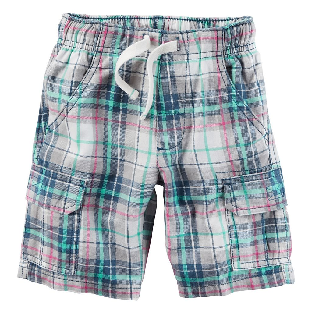 Baby Boy Carter's Midtier Plaid Cargo Shorts