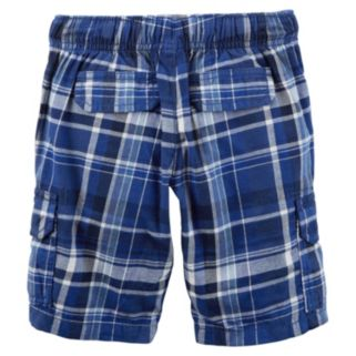 Boys 4-8 Carter's Plaid Cargo Shorts
