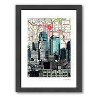 Americanflat Kansas City Skyline Framed Wall Art