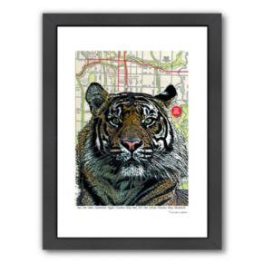 Americanflat Kansas City Tiger Framed Wall Art