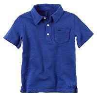 Baby Boy Carter's Short Sleeve Slubbed Solid Polo Shirt