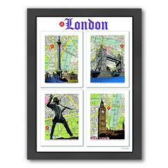 Americanflat 'London' Poster Framed Wall Art