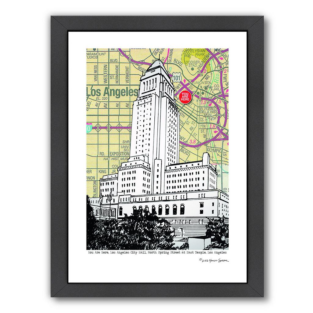 Americanflat Los Angeles City Hall Framed Wall Art
