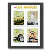 """Americanflat """"Los Angeles"""" Poster Framed Wall Art"""