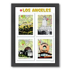 Americanflat 'Los Angeles' Poster Framed Wall Art