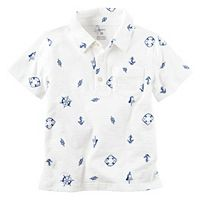 Baby Boy Carter's Short Sleeve Printed Slubbed Polo Shirt