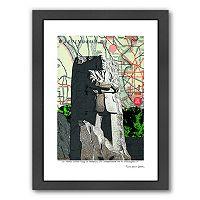 Americanflat Martin Luther King, Jr. Sculpture Washington DC Framed Wall Art