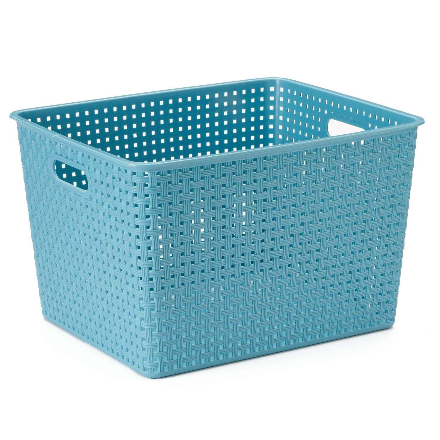 Nice SONOMA Goods For Life™ Plastic Storage Bin. Brown Gray Blue White