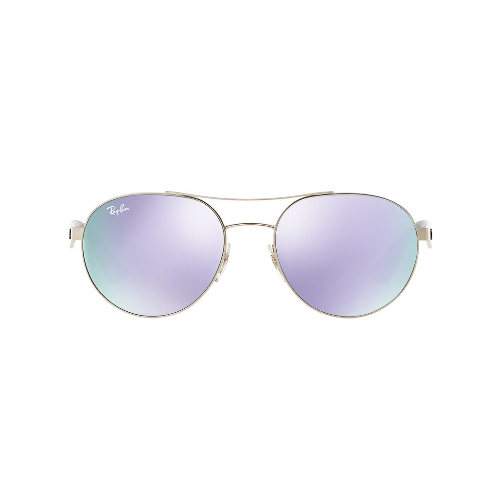 Ray-Ban Highstreet RB3536 55mm Aviator Mirror Sunglasses