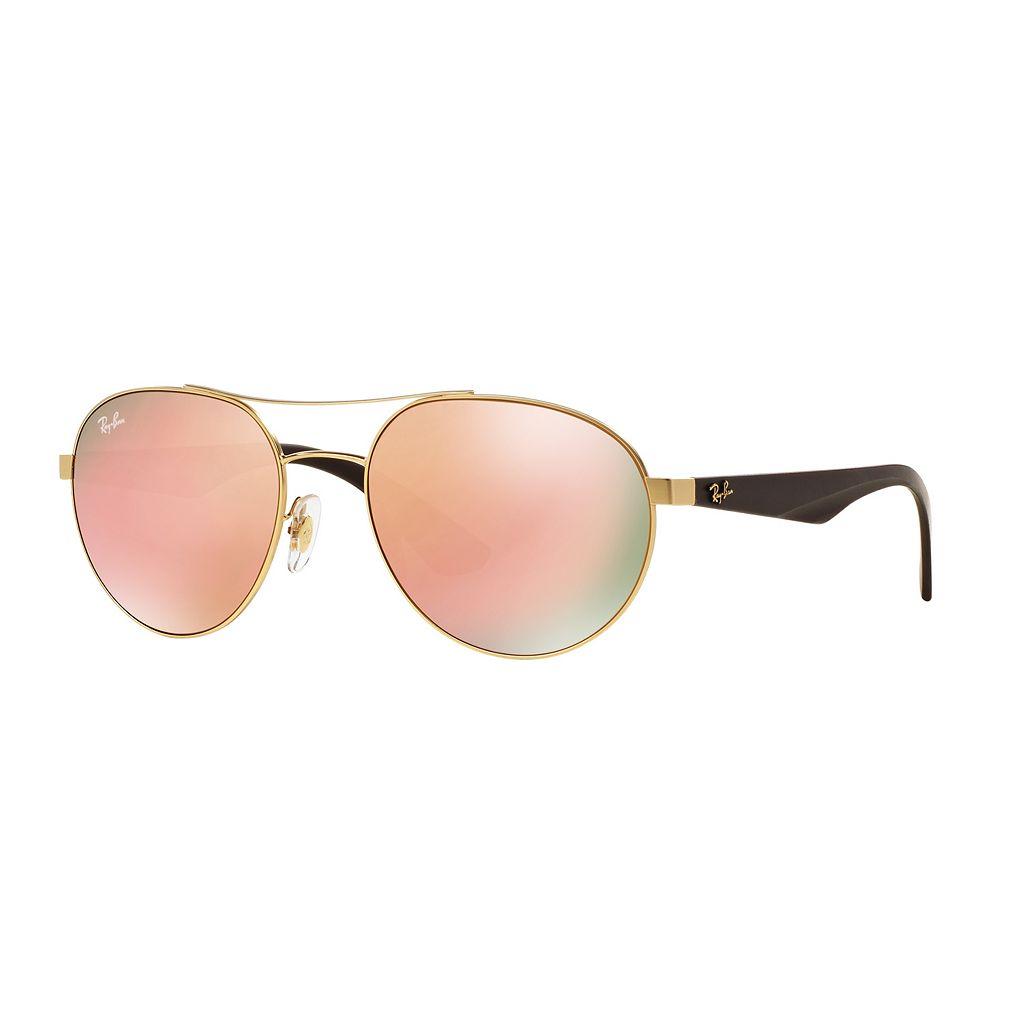 Ray-Ban Highstreet RB3536 55mm Aviator Mirror Sunglasses