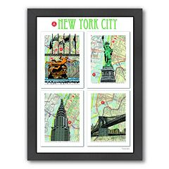 Americanflat 'New York City' Poster Framed Wall Art