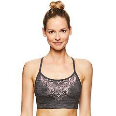 Gaiam Strappy Back Yoga Medium-Impact Sports Bra