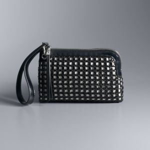 Simply Vera Vera Wang Pierce Open Weave Wristlet