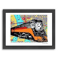 Americanflat Oregon Rail Heritage Center Framed Wall Art