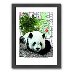 Americanflat Panda Framed Wall Art