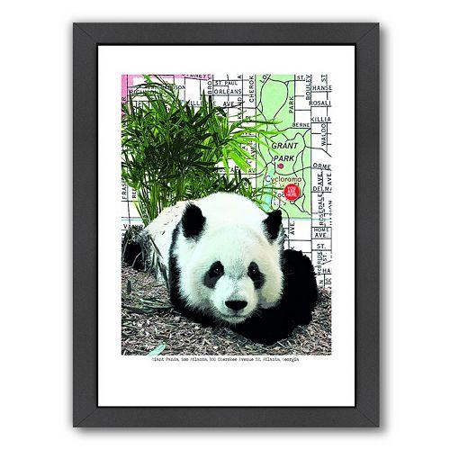 Americanflat Panda Framed Wall Art