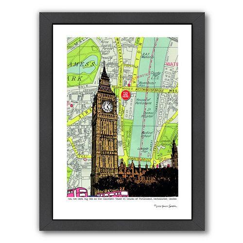 Americanflat Parliament & Big Ben London Framed Wall Art