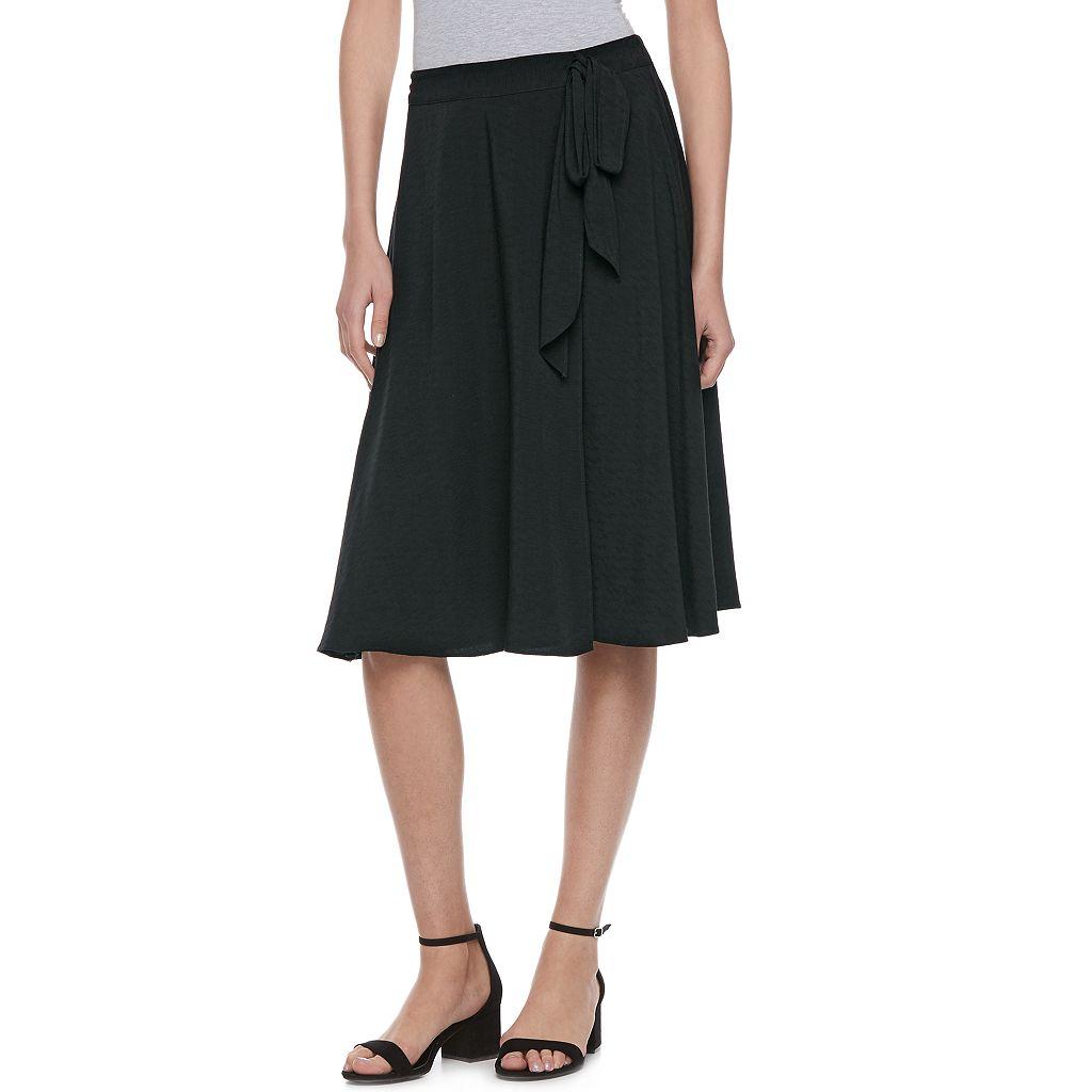 Women's ELLE™ Faux-Wrap Midi Skirt