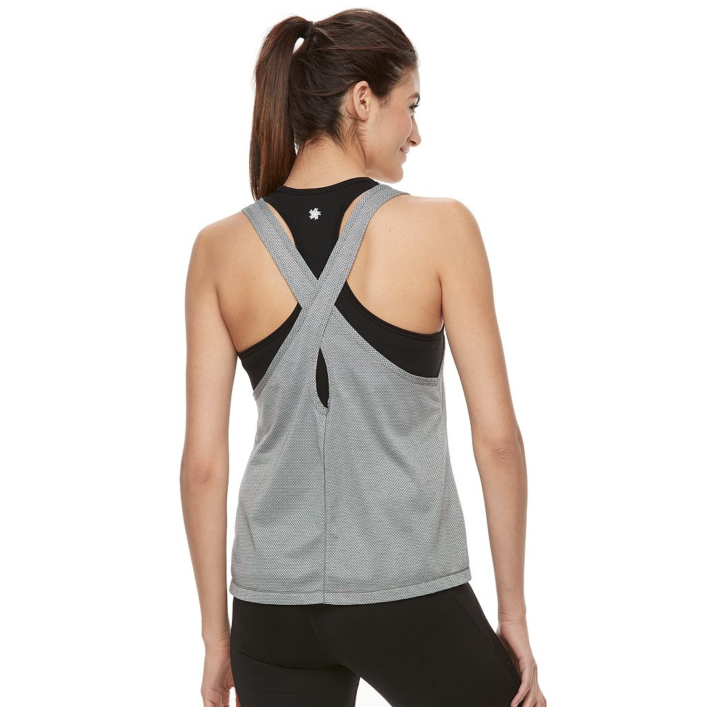 Women's Tek Gear® Seamless Mesh Overlay 2-in-1 Tank