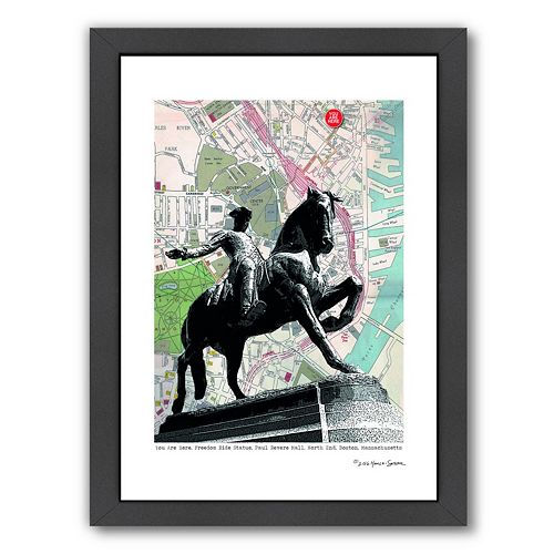 Americanflat Paul Revere Boston Framed Wall Art