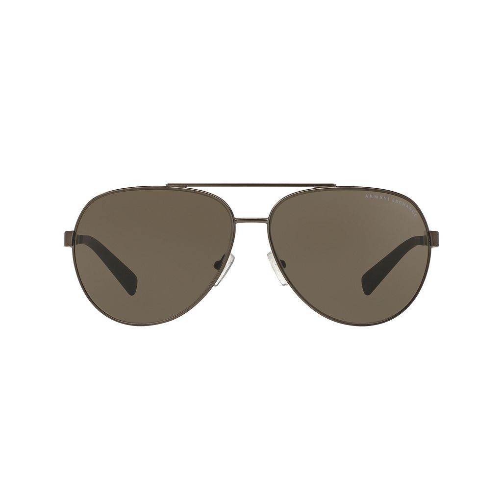 Armani Exchange Forever Young AX2017S 64mm Aviator Sunglasses
