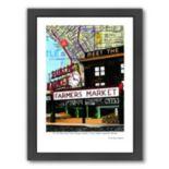 Americanflat Pike Place Market Seattle Framed Wall Art