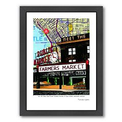 Americanflat Pike Place Market Seattle Framed Wall Art