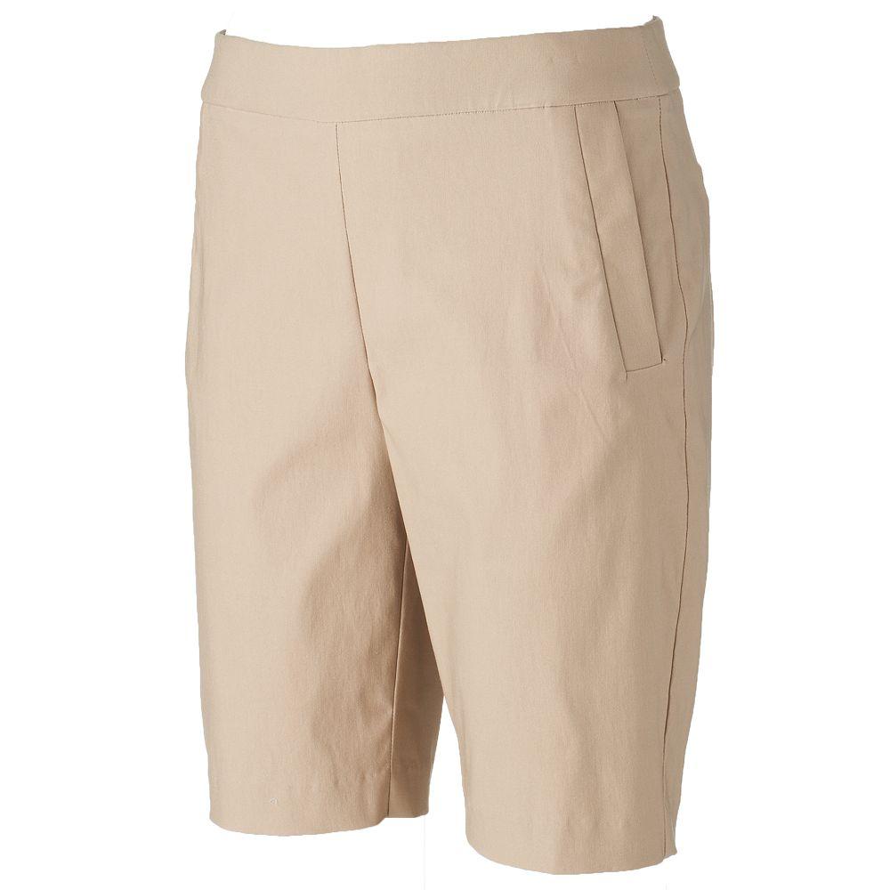 ELLE™ Pull-On Bermuda Shorts