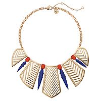 Jennifer Lopez Chevron Bib Statement Necklace