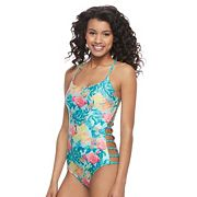 Juniors' Social Angel Strappy One-Piece Swimsuit