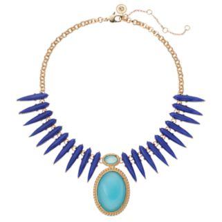 Jennifer Lopez Blue Teardrop & Oval Statement Necklace