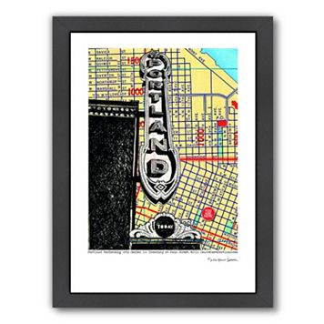 Americanflat Portland Performing Arts Center Sign Framed Wall Art