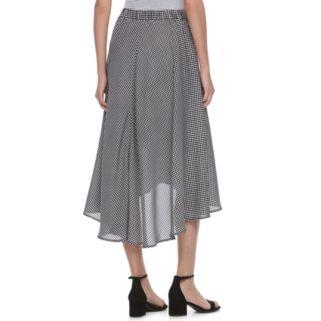 Women's ELLE™ Checkered Faux-Wrap Skirt