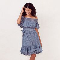Women's LC Lauren Conrad Smocked Off-the-Shoulder Peasant Dress
