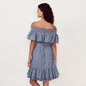 Women's LC Lauren Conrad Smocked Off-the-Shoulder Peasant Dress