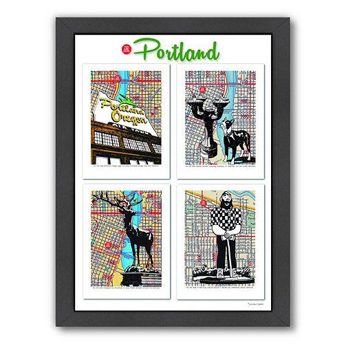 "Americanflat ""Portland"" Poster Framed Wall Art"