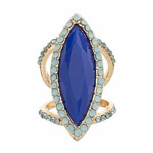Jennifer Lopez Halo Marquise Double Ring