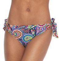 Juniors' Social Angel Printed Side-Tie Bikini Bottoms