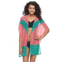 Juniors' Social Angel Printed Kimono Cover-Up