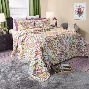 Portsmouth Home Trista Cotton Quilt Set