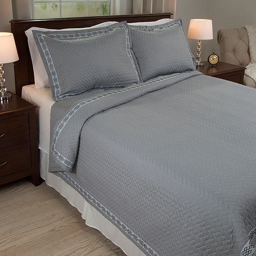 Portsmouth Home Valencia Embroidered Quilt Set