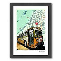 Americanflat Rosa Parks Bus Framed Wall Art