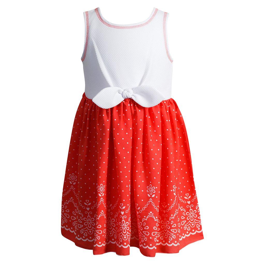 Toddler Girl Youngland Textured Polka-Dot Dress