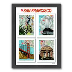 Americanflat 'San Francisco' Poster Framed Wall Art