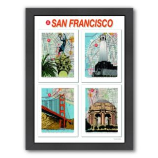 "Americanflat ""San Francisco"" Poster Framed Wall Art"