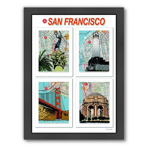 "Americanflat ""San Francisco"" Poster Framed Wall Art"