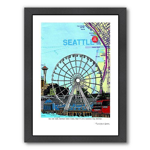"""Americanflat """"Seattle"""" Great Wheel Framed Wall Art"""