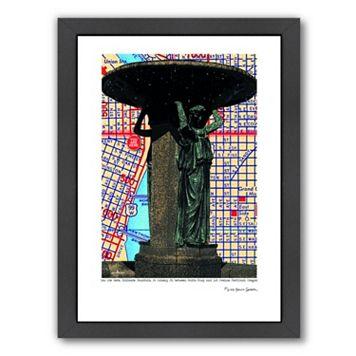Americanflat Skidmore Fountain Portland Framed Wall Art