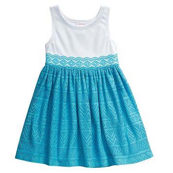 Toddler Girl Youngland Crochet Textured Dress